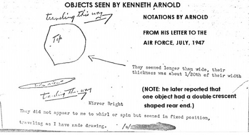 Kenneth Arnold Drawing